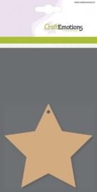 CE812301/0107- 3 stuks MDF basisvormen ster van 10x10cm
