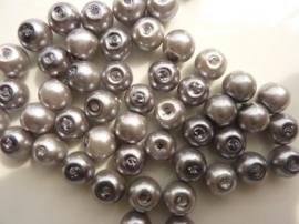 2197 - 50 x glasparels 8mm licht grijs - lage prijs -