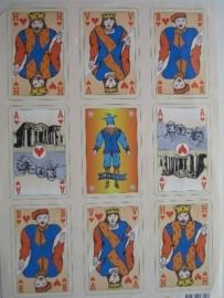 kn/387- A4 knipvel AANBIEDING sirius speelkaarten