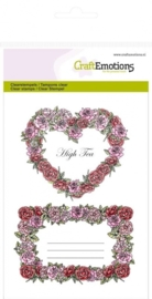CE130501/1064- Craft Emotions clearstamps A6 rozen labels