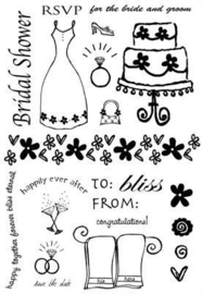 135.L- Provocraft clear stamp mariage 12x15cm OPRUIMING