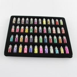 CH.015- 48 flesjes met diverse decoratie 195x150x12mm SUPERLAGE PRIJS!