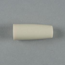 117465/4546- resin kraal kegel 39x16mm ivoor