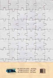 003010 - Top Hobby blanco puzzel - 48 stukjes - A4