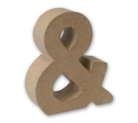 (0)1929 3201- stevige decoratie letter van papier mache - 3D teken &
