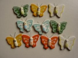 8020 841- 10 stuks houten vlinders van 3cm