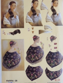 kn/739- A4 3D knipvel Parra camarca no.38 dames