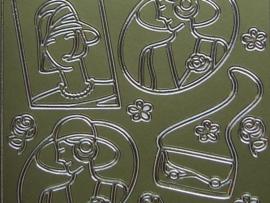 st 694- dames uit de 20er jaren goud