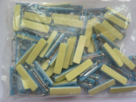 30mm - 100 stuks zelfklevende  broche speldjes  6401 902