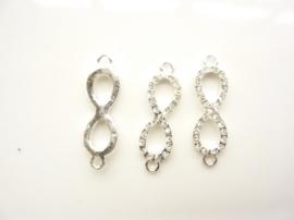CH.1510.B- metalen armband ornament 33.5x10mm zilver SUPERLAGE PRIJS!