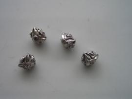 4 x metalen kralen 9x7.5mm 117456/0071KA