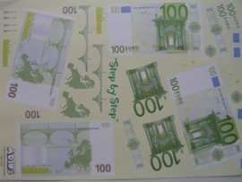 kn/397- A4 knipvel AANBIEDING eurobiljetten