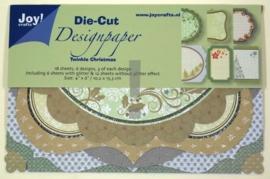 JOY8011/0507- 18 stuks Die-Cut design papers twinkle christmas 10.2x15.3xm