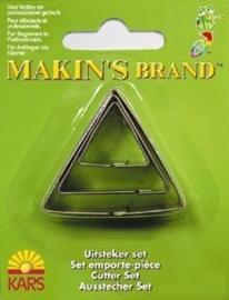 CE117918/6003- Makin`s clay uitsteker driehoek 2-4 cm