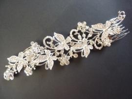 CH.099.18- prachtige luxe bruids haarkam ornament van 23x5cm