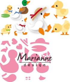 CE115638/1428- Marianne Design collectables Eline's eenden familie 14.5x20.5cm