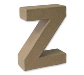 1929 3126- stevige decoratie letter van papier mache - 3D letter Z