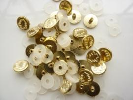 SLK209.E- 40 stuks snaps eyelets kerstboom goud OPRUIMING