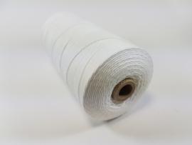 CE890040/1600- 550 mtr katoen macramé touw spoel 1.5mm 500grs - wit