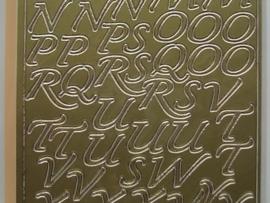 st568- letters cursief goud 1.5cm hoog