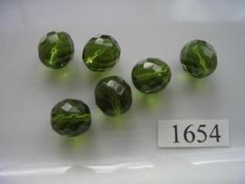 6 stuks ovaal 13x14mm 1654