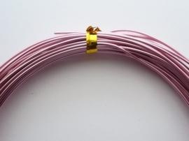 CH.10x13 - 10 meter aluminiumdraad (Wire&Wire draad) van 1mm roze