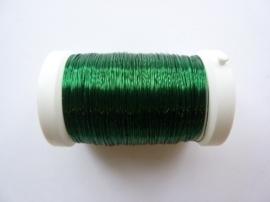 0216466 605- 150 meter glanzend metaaldraad 0.25mm donker (smaragd) groen