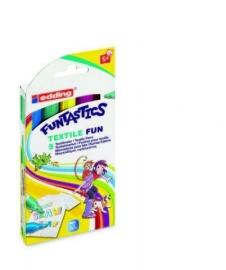 CE399900/1705- Edding funtastics textile fun assorti 5 kleuren