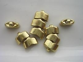 10x3.5mm dichte eindkapjes 10 stuks goud  -  2235/174