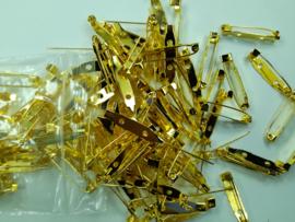 25 mm - 10 stuks brochespeldjes goudkleur