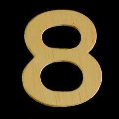 8735 643- 4cm houten cijfer 8