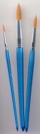 CE330109/8507- nylon penselenset 3 stuks assortiment