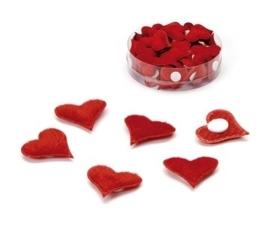 8021 101- 72 stuks decoratie hartjes zelfklevend van 2cm in een doosje