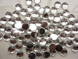 ca. 85 stuks strass stenen van 10mm kunststof zilver - SUPERLAGE PRIJS!