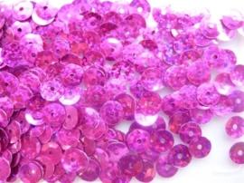 118372/475- 10gram facon pailletten van 8mm in glitter fuchsia (grote hoeveelheid!)