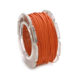 KN2290 424- 5 meter waxcord met nylonkern oranje 1mm dik
