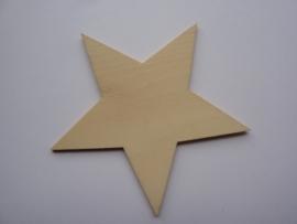 5999.Y- houten ornament ster van 9x9cm en 2mm dik OPRUIMING