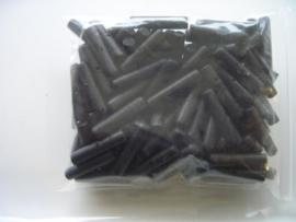 100 stuks kokoskralen van 12x3mm zwart