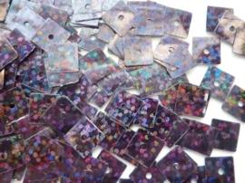 10gram vierkanten pailletten van 8x8mm in glitter zwart (grote hoeveelheid!)