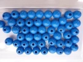 6030 351- 50 stuks A-kwaliteit houten kralen van 10mm midden blauw