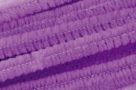 8476 306- 10 stuks chenille draad van 50cm lang en 8mm breed lila