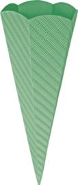KN204869953- 5 stuks XL puntzakken van golfkarton met reliëf 41cm middengroen