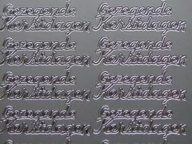 st 323- gezegende kerstdagen zilver 10x20cm