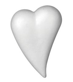 6768 676- 5 x styropor/piepschuim hart druppelvorm van 14x20cm