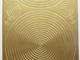 ST.1144- sticker met cirkels goud 10x20cm