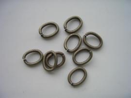 117465/2893 ovale schakelring 13x10mm geelbrons
