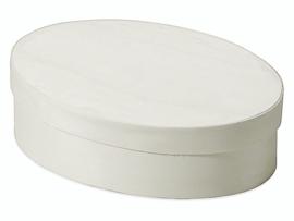 KN8735 594- 10 stuks spaan doos ovaal 5.5x8cm