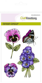CE130501/1248- Craft Emotions clearstamps A6 - sweet violets no.2