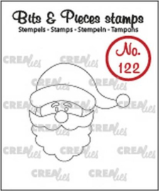 CE130505/1122- Crealies clearstamp nr.122 kerstman 35x35mm