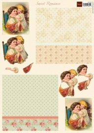 """kn/1957- A4 3D knipvel Marianne Design """"sweet romance no.2"""" - 117148/9512"""